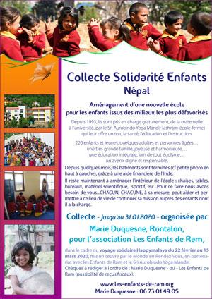 Collecte Solidarité Enfants Népal