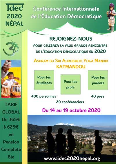 IDEC 2020 - Conférence Internationale de l'Éducation Démocratique